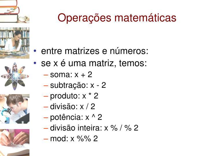 Operações matemáticas