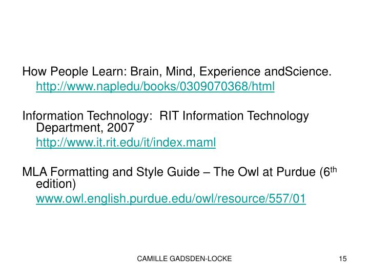 How People Learn: Brain, Mind, Experience andScience.