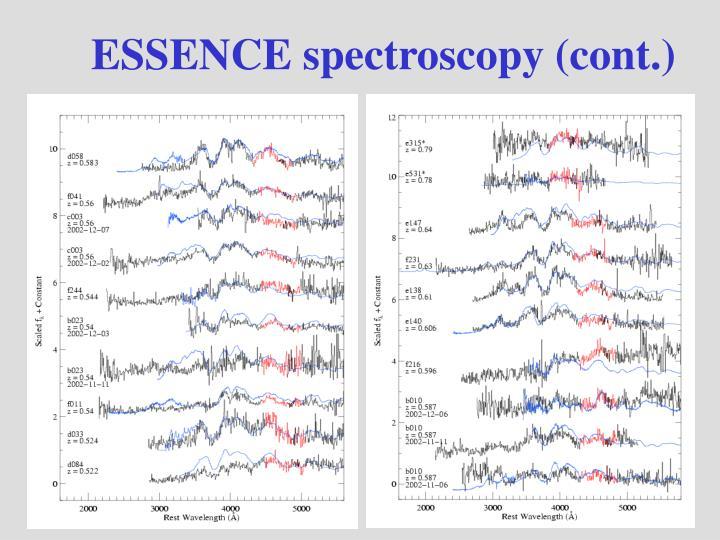 ESSENCE spectroscopy (cont.)