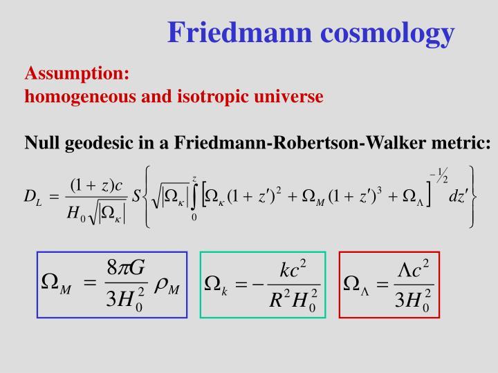 Friedmann cosmology