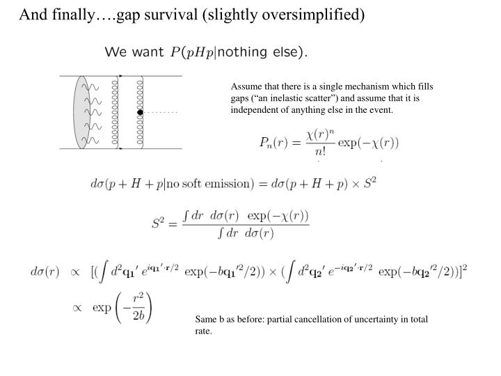And finally….gap survival (slightly oversimplified)