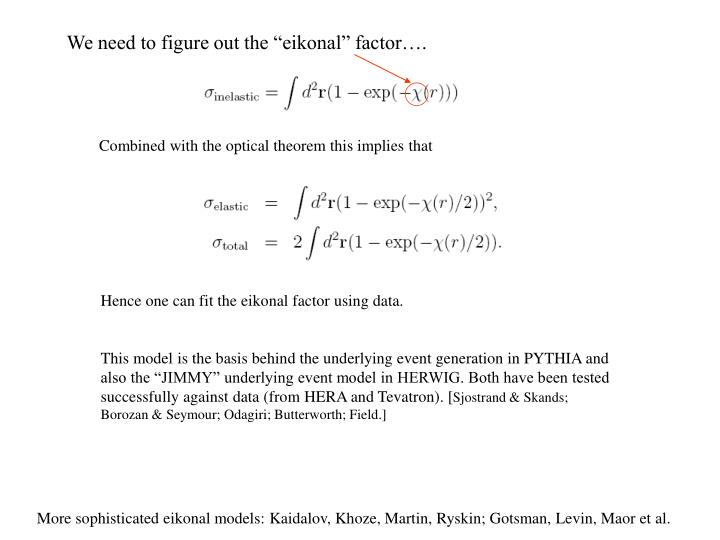 """We need to figure out the """"eikonal"""" factor…."""