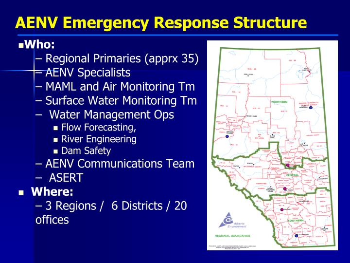 AENV Emergency Response Structure