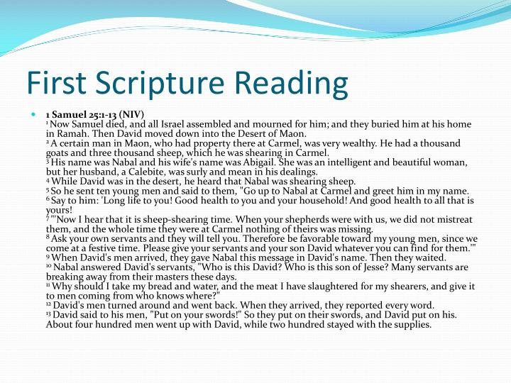 First Scripture Reading