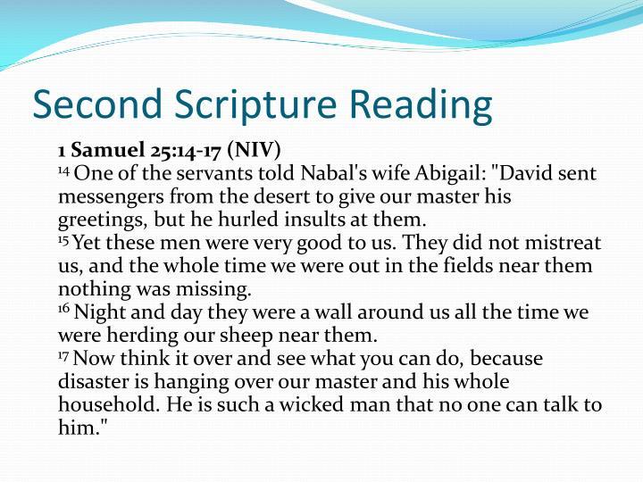 Second Scripture Reading
