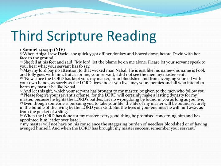 Third Scripture Reading