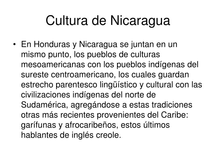 Cultura de Nicaragua