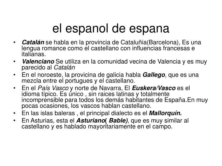 el espanol de espana