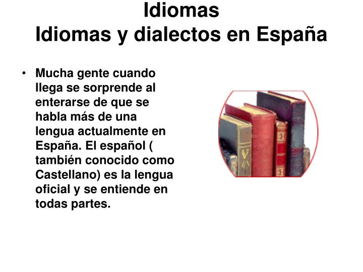 Mucha gente cuando llega se sorprende al enterarse de que se habla más de una lengua actualmente en España. El español ( también conocido como Castellano) es la lengua oficial y se entiende en todas partes.