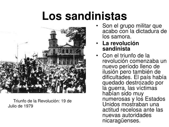 Son el grupo militar que acabo con la dictadura de los samora.