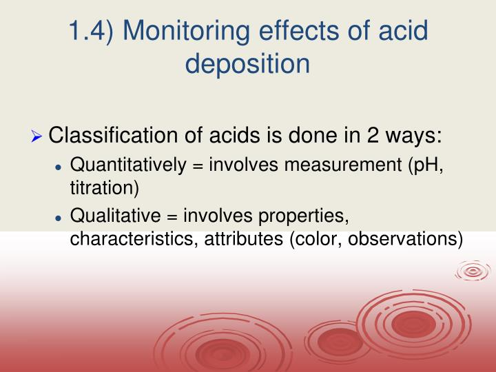 1.4) Monitoring effects of acid deposition