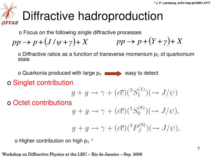 Diffractive ratios as a function of transverse momentum p