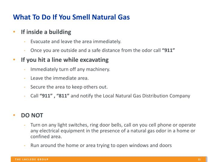 What To Do If You Smell Natural Gas