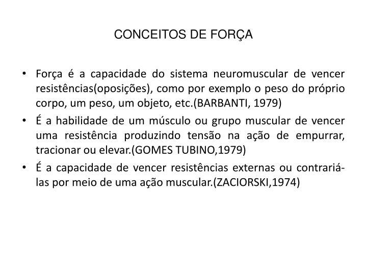 CONCEITOS DE FORÇA