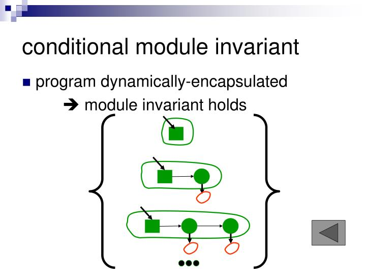 conditional module invariant