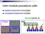 inter module procedure calls