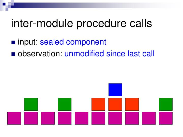 inter-module procedure calls