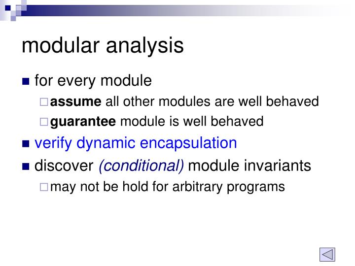 modular analysis