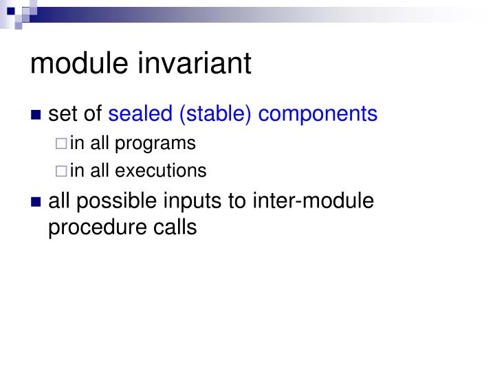 module invariant
