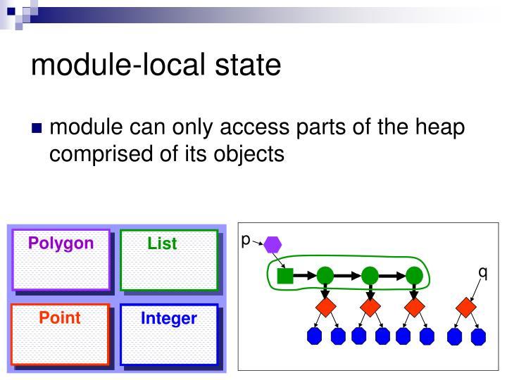 module-local state
