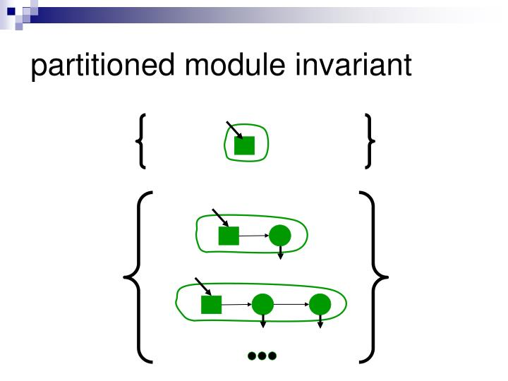 partitioned module invariant