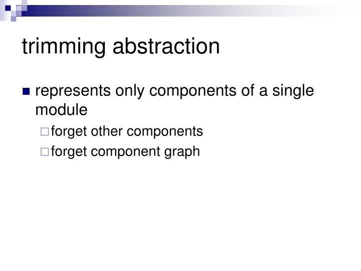 trimming abstraction