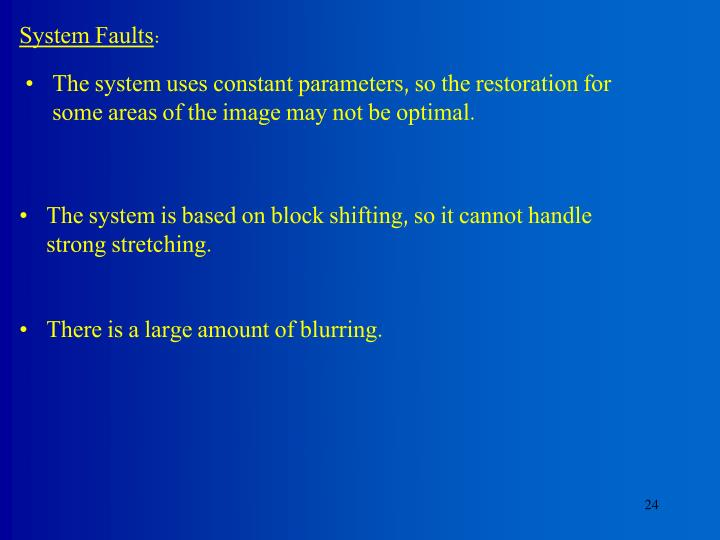 System Faults