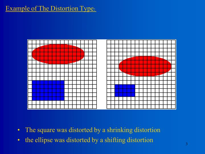 Example of The Distortion Type: