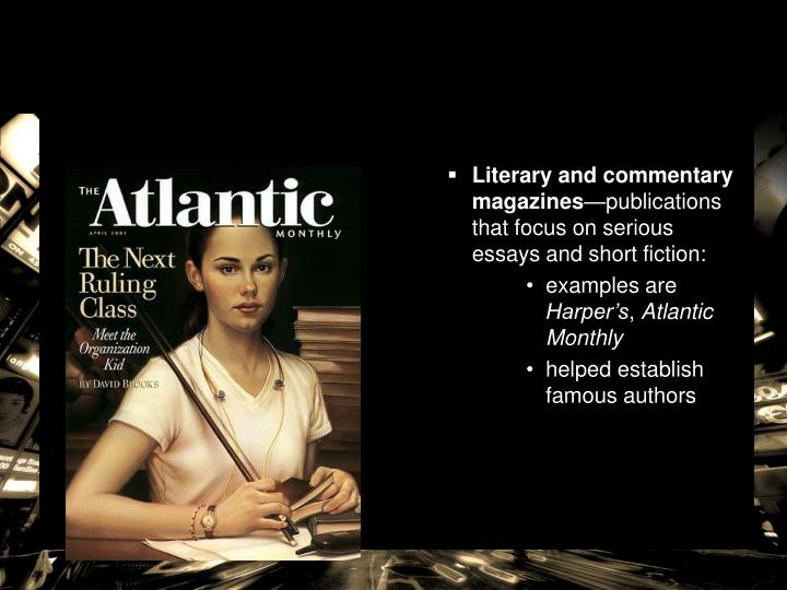 Literary and commentary magazines