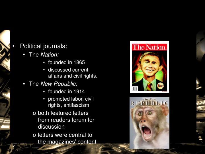 Political journals:
