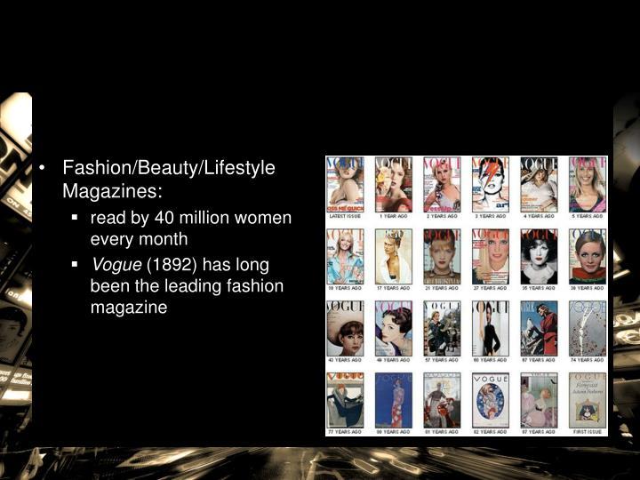 Fashion/Beauty/Lifestyle Magazines: