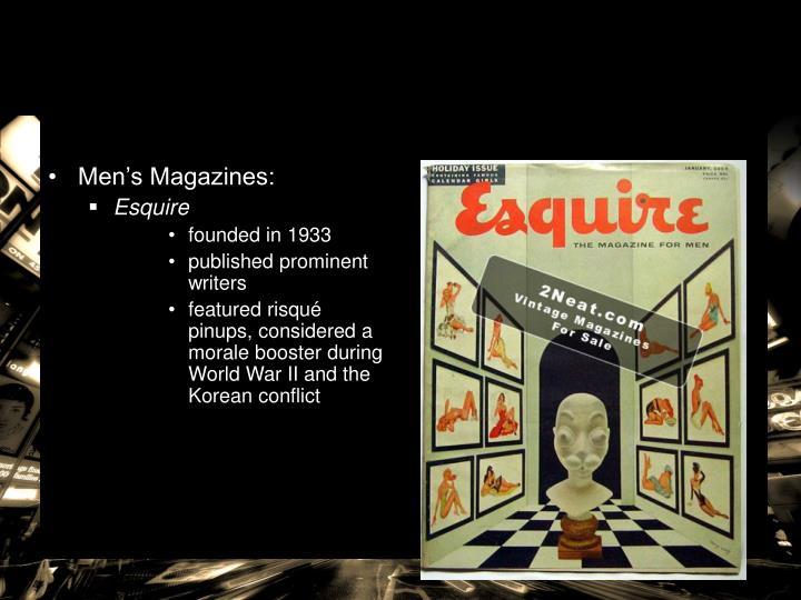 Men's Magazines: