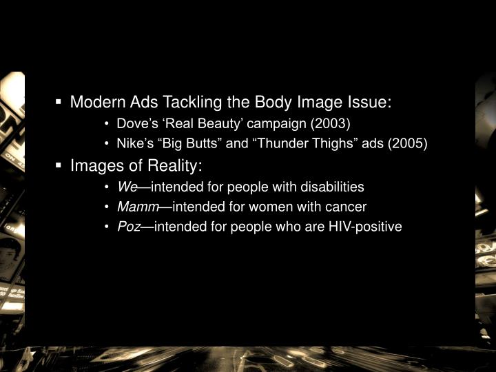Modern Ads Tackling the Body Image Issue: