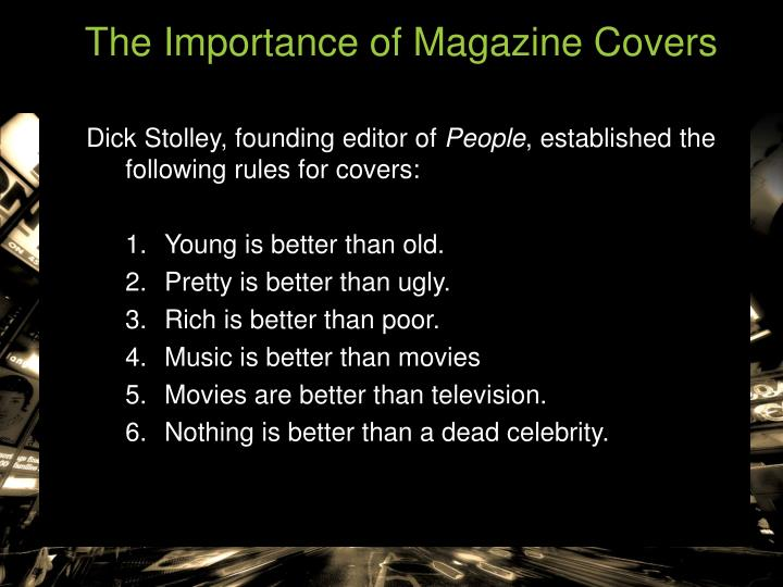The Importance of Magazine Covers