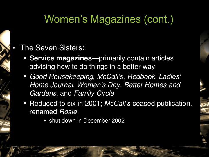 Women's Magazines (cont.)