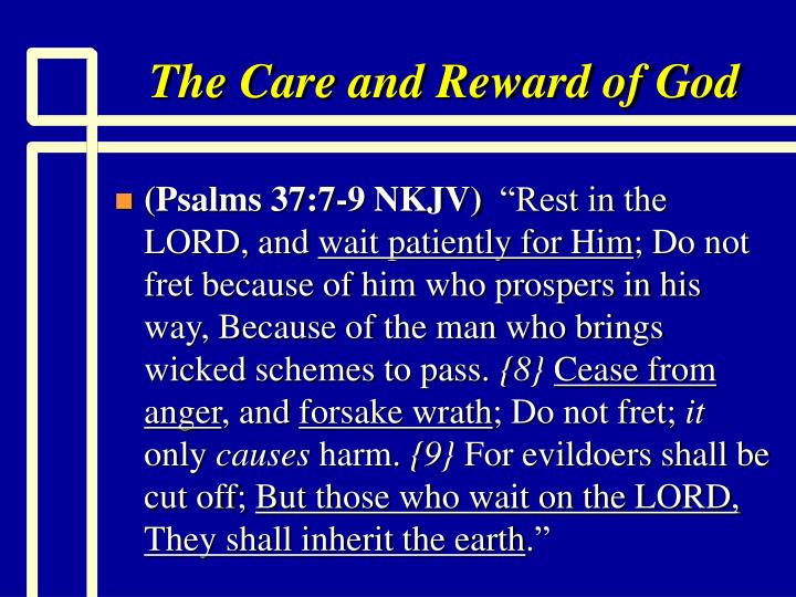 The Care and Reward of God