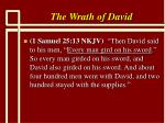 the wrath of david5