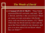 the wrath of david9