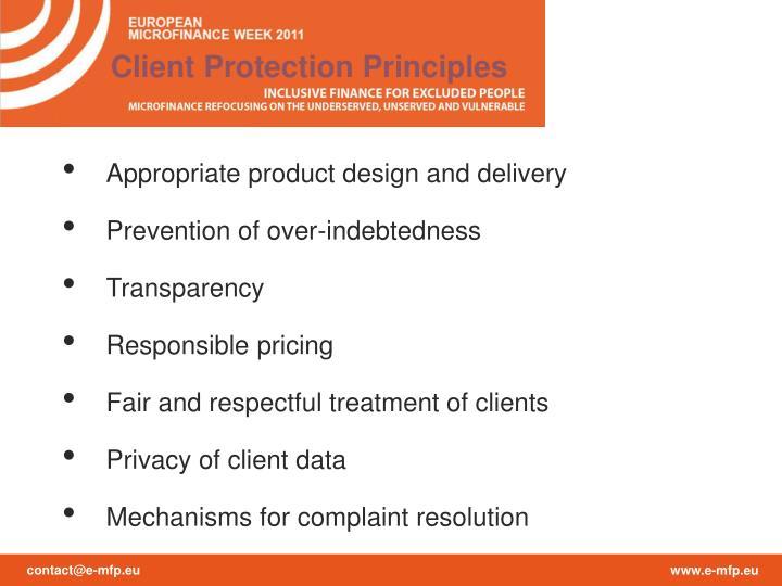 Client Protection Principles