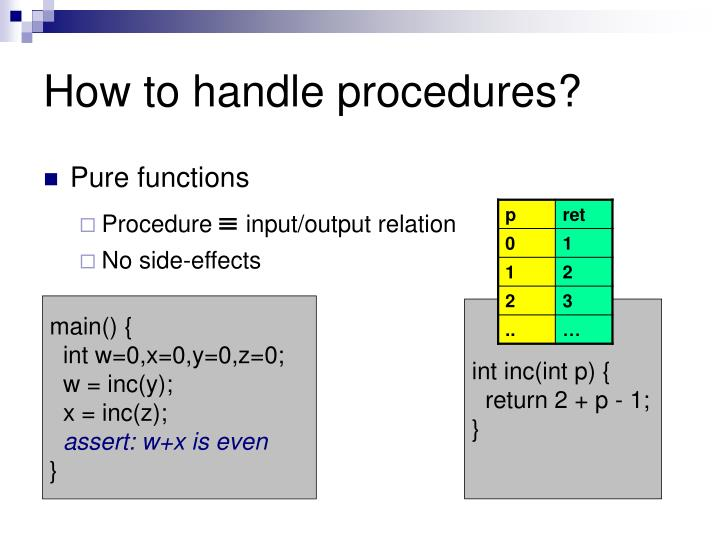 How to handle procedures?