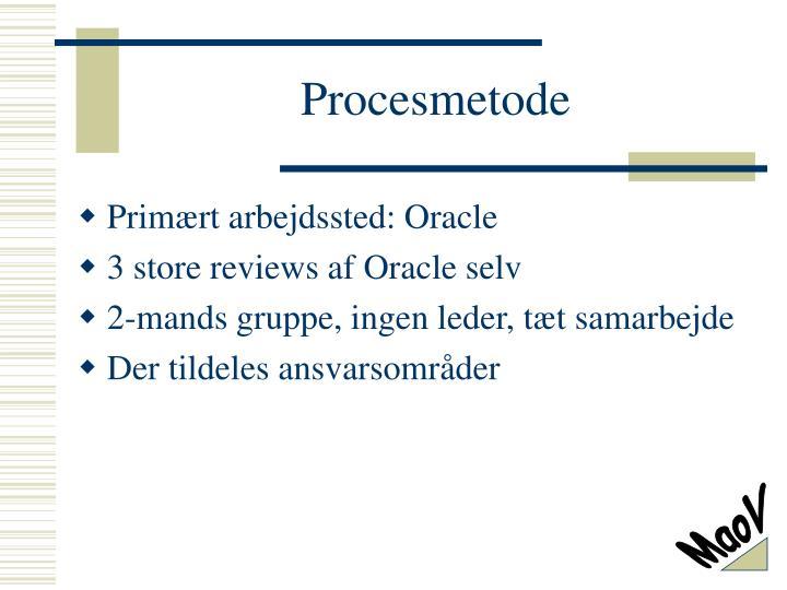 Procesmetode