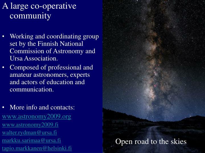 A large co-operative community