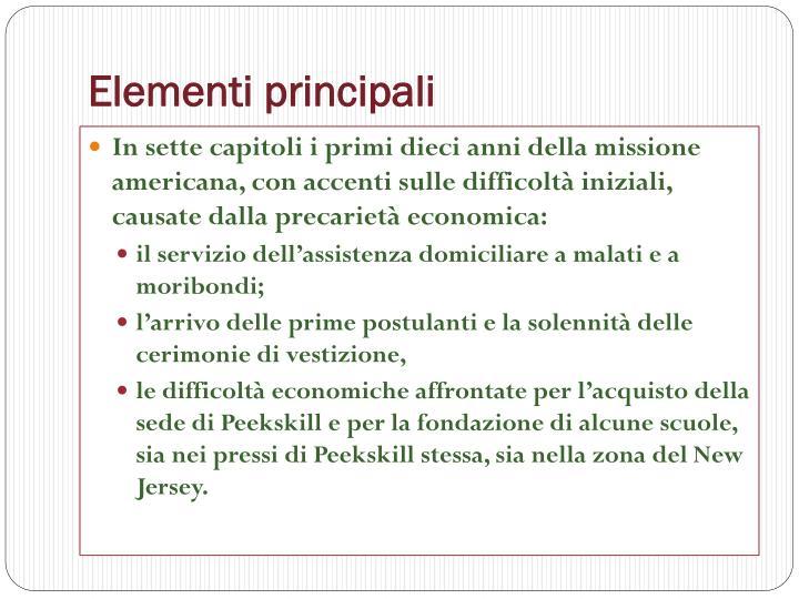 Elementi principali
