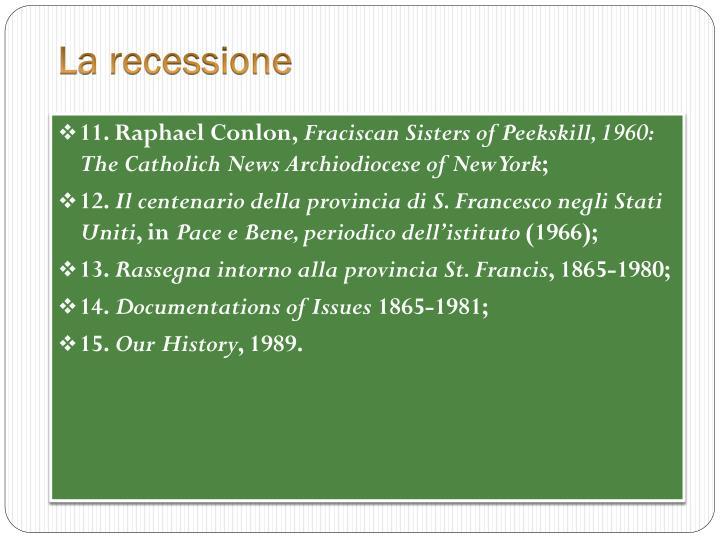 La recessione