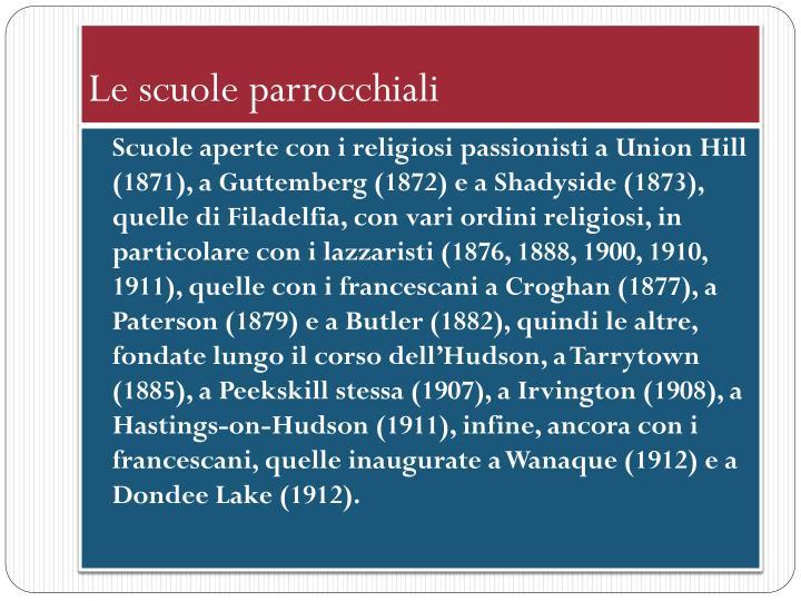 Le scuole parrocchiali