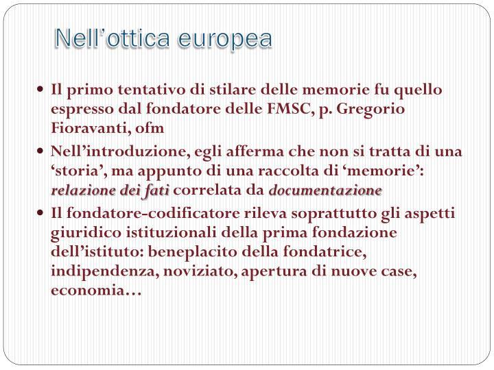 Nell'ottica europea