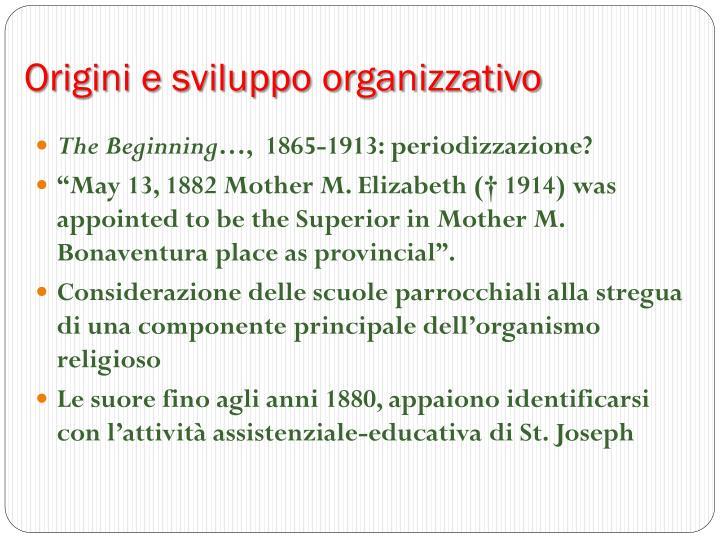 Origini e sviluppo organizzativo