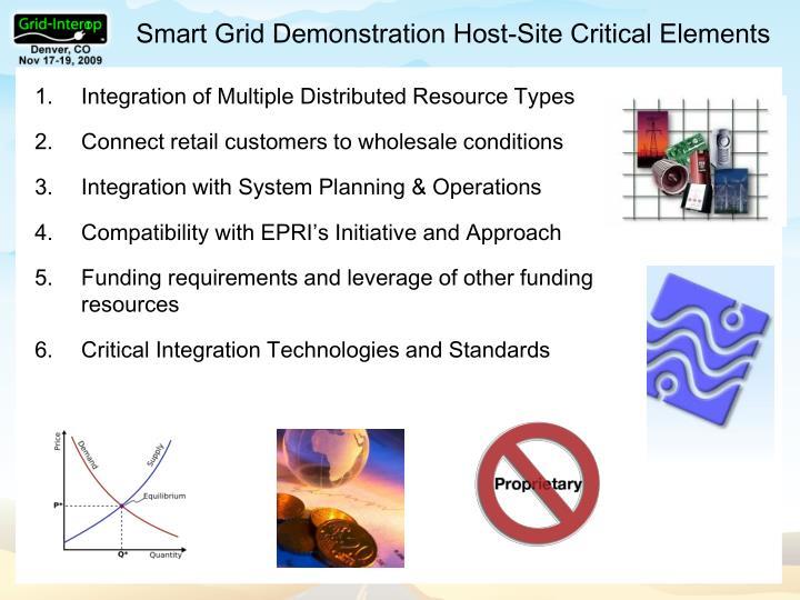Smart Grid Demonstration Host-Site Critical Elements