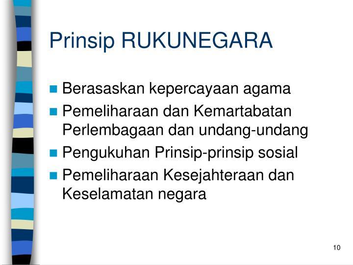 Prinsip RUKUNEGARA