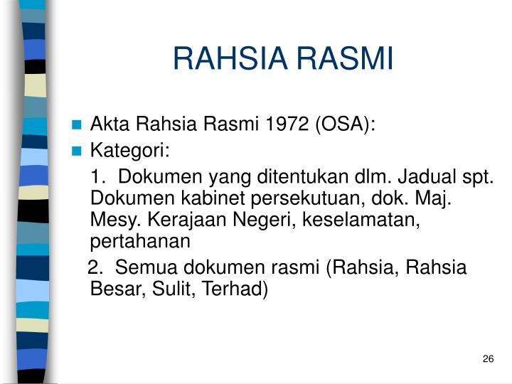 RAHSIA RASMI